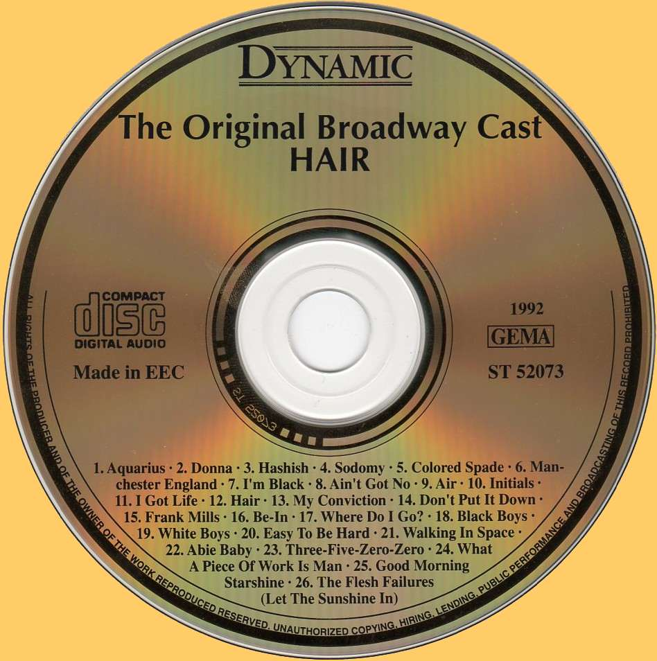 US Broadway CD - ST 52073 cd