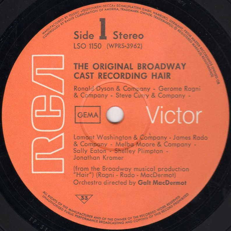 US Broadway LP - LSO-1150 side 1