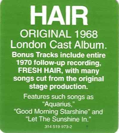 England Hair/Fresh Hair CD - 314 519 973-2 sticker