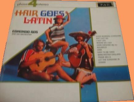 Edmundo Ros - Hair goes Latin LP - Israel front