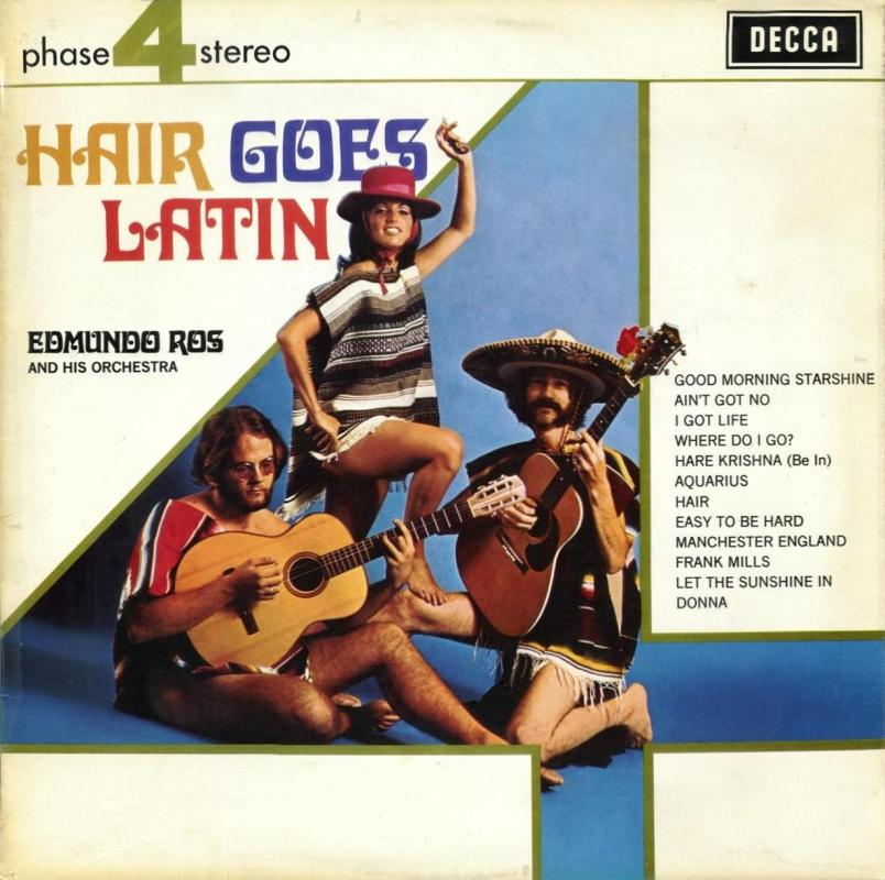 Edmundo Ros - Hair goes Latin LP - PFS 4178 front