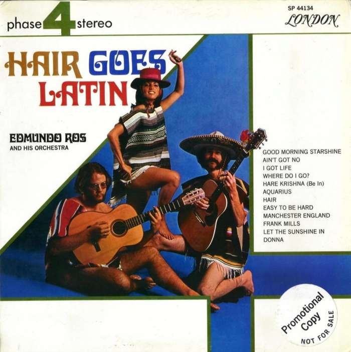 Edmundo Ros - Hair goes Latin LP - SP 44134 promo front