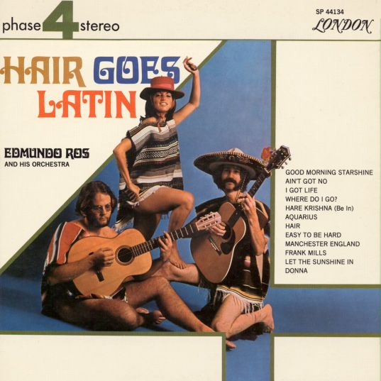 Edmundo Ros - Hair goes Latin LP - SP 44134 front