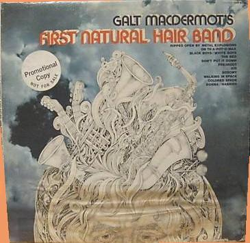 Galt MacDermot's First natural Hair band LP - UAS 6750 promo front