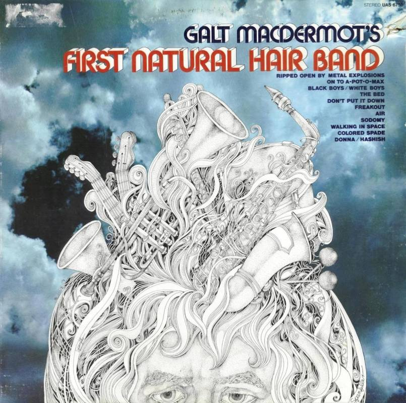Galt MacDermot's First natural Hair band LP - -UAS 6750 front