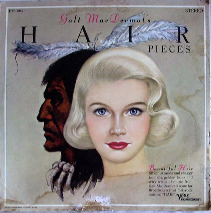 Galt MacDermo's Hair pieces LP - FTS-3045 promo front