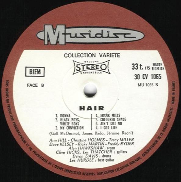 Graham Walker Sound, The - Hair - The Tribal Love-Rock Musical